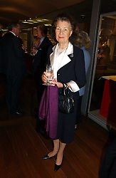 MRS CORAL SAMUEL at 'Britannia & Muscovy English Silver at The Court of The Tsars' exhibition opening at the Gilbert Collection, Somerset House, London on 20th October 2006<br />