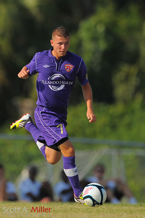 Orlando City U23s midfielder Nicolas Russo (7) in action during Orlando's game against the Ocala Stampede at the Seminole Soccer Complex Saturday on May 26, 2012 in Sanford, Fla. ...©2012 Scott A. Miller..