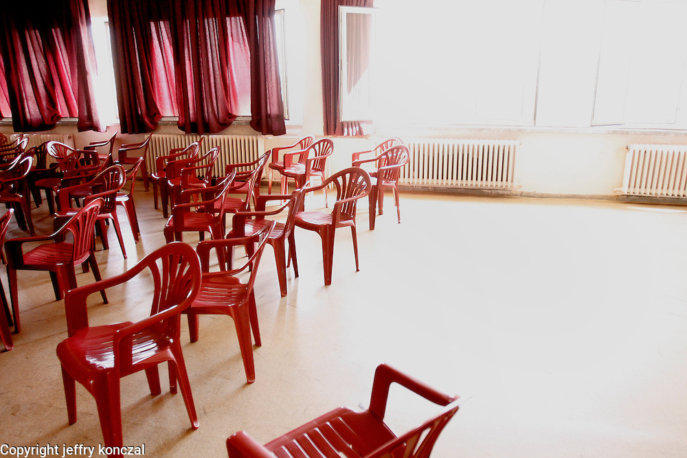 Chairs in a school Gaziantep, Turkey.