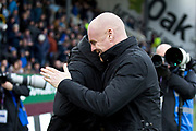 Burnley manager Sean Dyche and Norwich manager Daniel Farke  before the The FA Cup match between Burnley and Norwich City at Turf Moor, Burnley, England on 25 January 2020.
