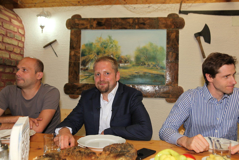 Vit Jedlicka is having supper with Pierre-Louis Boitel (right). Ambassador to Liberland in France