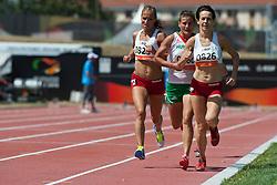 NIEWIEDZIAL Barbara, MELOCH Arleta, BIACSI Ilona, POL, HUN, 1500m, T20, 2013 IPC Athletics World Championships, Lyon, France