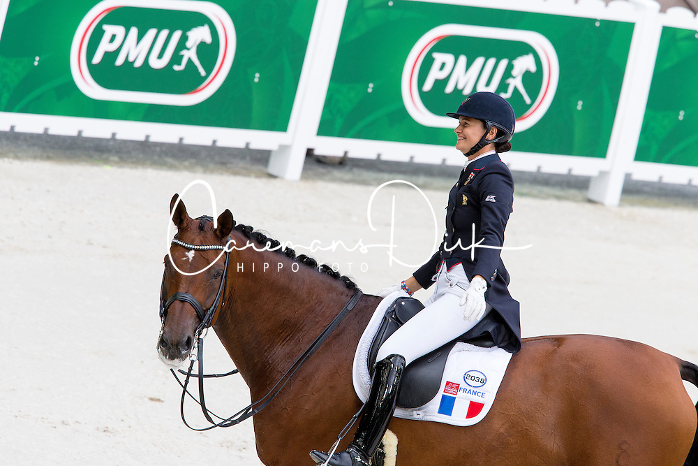 Jessica Michel, (FRA), Riwera de Hus - Grand Prix Team Competition Dressage - Alltech FEI World Equestrian Games&trade; 2014 - Normandy, France.<br /> &copy; Hippo Foto Team - Leanjo de Koster<br /> 25/06/14