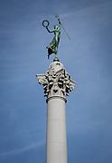 Dewey Monument memorial statue in Union Square; downtown San Francisco, California