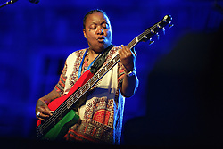 US singer and songwriter Meshell Ndegeocello performs live during 'Palais en Jazz' Festival in the courtyard of Palais Imperial, on June 30, 2018 in Compiegne, France. Photo by Edouard Bernaux/ABACAPRESS.COM