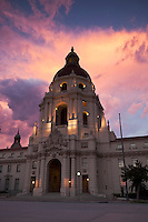 Pasadena City Hall at Sunset, California