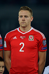 TBILSI, GEORGIA - Friday, October 6, 2017: Wales' Chris Gunter before the 2018 FIFA World Cup Qualifying Group D match between Georgia and Wales at the Boris Paichadze Dinamo Arena. (Pic by David Rawcliffe/Propaganda)