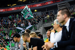 Fans of KK Cedevita Olimpija during ABA basketball league round 9 match between teams KK Cedevita Olimpija and KK Crvena Zvezda MTS in Arena Stozice, 1. December, 2019, Ljubljana, Slovenia. Photo by Grega Valancic / Sportida