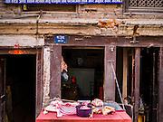 06 MARCH 2017 - KATHMANDU, NEPAL: A butcher shop in Kathmandu.      PHOTO BY JACK KURTZ