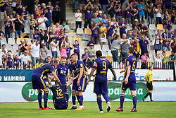 Players of NK Maribor celebrate goal during football match between NK Maribor and ND Gorica in Round #36 of Prva liga Telekom Slovenije 2017/18, on April 27, 2018 in Ljudski vrt, Maribor, Slovenia. Photo by Urban Urbanc / Sportida