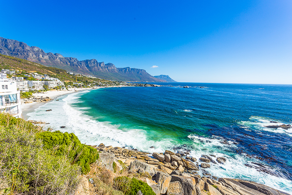A picture of Clifton Beach in Cape Town, South Africa.