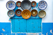 Moroccan ceramics for sale, Asilah Medina, Northern Morocco, 2015-08-11.