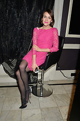 ELLA CATLIFF at the Tatler Little Black Book Party held at Home House Private Member's Club, Portman Square, London supported by CARAT on 6th November 2014.