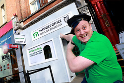 No Repro Fee Pics <br /> Karen Morgan 01/02/19<br /> <br /> <br /> Paddy Power engaged in some MEGA-SCALE mischief ahead of this weekend's Ire V Eng match<br /> For Passport Office Paddy Power transformed their Baggot Street retail store into 'Paddy Power's Passport Office', to make sure English fans leave with a consolation prize if (and hopefully when) Ireland win on Saturday.
