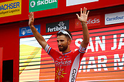 Podium, Nacer Bouhanni (FRA - Cofidis) winner, during the UCI World Tour, Tour of Spain (Vuelta) 2018, Stage 6, Huercal Overa - San Javier Mar Menor 155,7 km in Spain, on August 30th, 2018 - Photo Luca Bettini / BettiniPhoto / ProSportsImages / DPPI