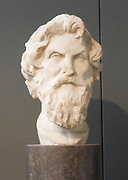 greek bust of Socrates (469-399 BC) is considered to be the intellectual father of modern Western philosophy. His method of enquiry was to enter into a penetrating discussion with his companions, questioning the nature of knowledge itself in pursuit of absolute truths. Socrates himself wrote nothing, but versions of his conversations are recorded in the written works of his pupils Plato and Xenophon. Socrates' pursuit of true knowledge brought him into conflict with the piety laws of his native Athens, where his eventual prosecution led to enforced suicide.