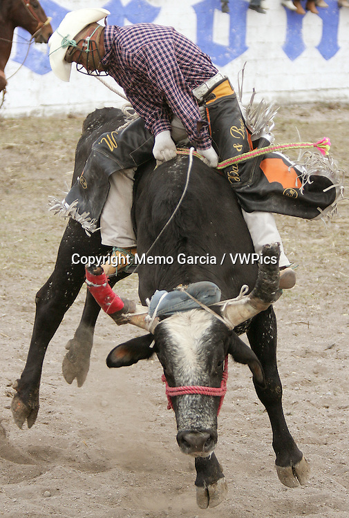 """Mexican Rodeo """"Jaripeo"""", biggest bulls and best riders get together in this rural gathering."""
