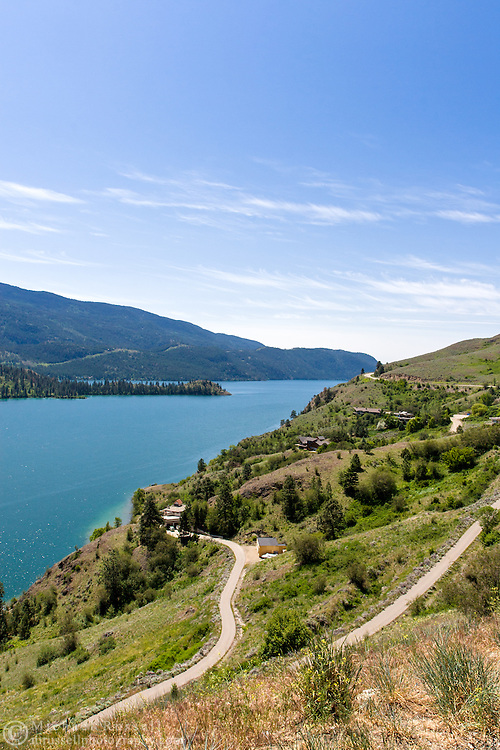 Lakeside homes near Kalamalka Lake in Vernon, British Columbia, Canada