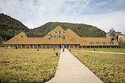 La Collina confectionery factory in Omihachiman, Japan was designed by Terunobu Fujimori.
