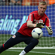 New York Red Bulls goalkeeper Ryan Meara, in action warming up before the New York Red Bulls V Chivas USA Major League Soccer match at Red Bull Arena, Harrison, New Jersey, 23rd May 2012. Photo Tim Clayton
