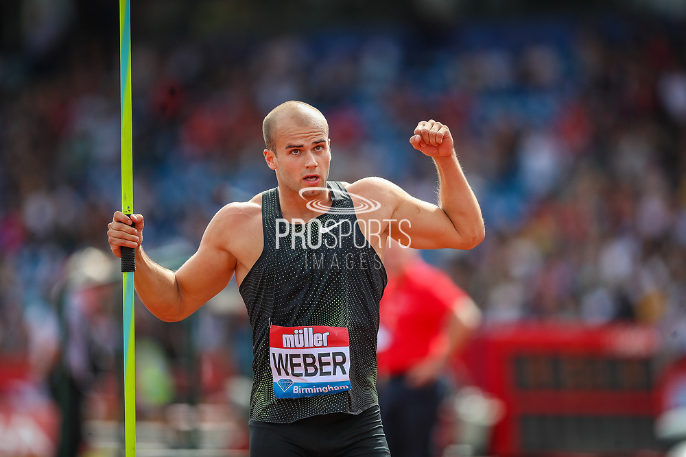 Julian WEBER of Germany in the Men's Javelin during the Muller Grand Prix 2018 at Alexander Stadium, Birmingham, United Kingdom on 18 August 2018. Picture by Toyin Oshodi.