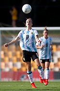 SYDNEY, NSW - FEBRUARY 28: Argentina player Ruth Bravo (8) watches the ball at The Cup of Nations womens soccer match between Argentina and Korea Republic on February 28, 2019 at Leichhardt Oval, NSW. (Photo by Speed Media/Icon Sportswire)