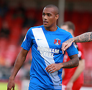 Leyton Orient striker Jay Simpson during the Sky Bet League 2 match between Crawley Town and Leyton Orient at the Checkatrade.com Stadium, Crawley, England on 10 October 2015. Photo by Bennett Dean.
