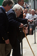 Andy Rooney arrives at the Walter Cronkite funeral at The St. Bartholomew Church on July 23, 2009 in New York City
