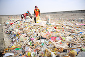River filled with rubbish after Transport Ships Illegally Dump Waste