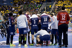 Players of Paris Saint-Germain Handball during handball match between RK Celje Pivovarna Lasko (SLO) and Paris Saint-Germain Handball (FRA) in VELUX EHF Champions League, on February 11, 2018 in Dvorana Zlatorog, Celje, Slovenia. Photo by Urban Urbanc / Sportida