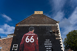 LIVERPOOL, ENGLAND - Monday, August 3, 2020: A street art mural of Liverpool's Trent Alexander-Arnold. (Pic by David Rawcliffe/Propaganda)