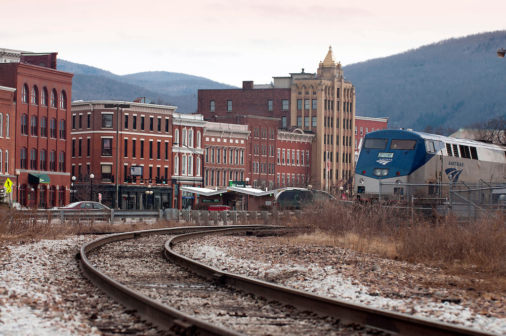 Amtrak's Ethan Allen is one of Rutland, Vermont's links to New York and beyond.