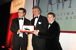 Left to right, JP MAGNIER, ARNAUD BAMBERGER and JOHNNY MURTAGH at the annual Cartier Racing Awards held at the Grosvenor House Hotel, Park Lane, London on 17th November 2008.