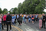 Fans gather and queue before the One Love Manchester Concert at the Emirates Old Trafford Cricket Ground, Manchester, United Kingdom on 4 June 2017. Photo by Phil Duncan.