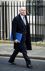 © London News Pictures. 18/12/2012. London, UK. Secretary of State for Work and Pensions Iain Duncan Smith MP arriving on Downing Street, in London for cabinet meeting on December 18, 2012 Photo credit: Ben Cawthra/LNP.