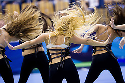 Cheerleaders Plesna sola Urska Celje perform during handball match between RK Celje Pivovarna Lasko and IK Savehof (SWE) in 3rd Round of Group B of EHF Champions League 2012/13 on October 13, 2012 in Arena Zlatorog, Celje, Slovenia. (Photo By Vid Ponikvar / Sportida)
