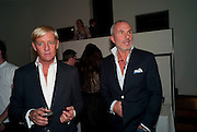 Philip Vergeylen,( left)  Benno Graziani: Memories Of Summer, Hamiltons Gallery. London. 16 September 2009.
