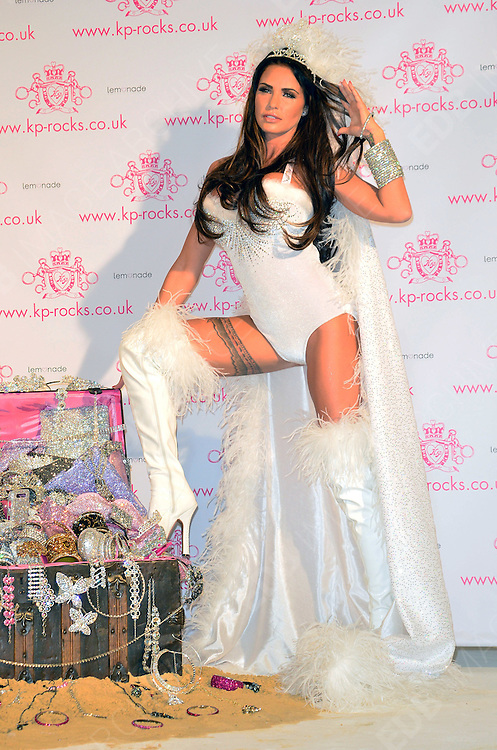 07.NOVEMBER.2012. LONDON<br /> <br /> KATIE PRICE AT THE PHOTOCALL OF HER LATEST VENTURE, 'KP ROCKS' AT THE WORX STUDIOS, LONDON<br /> <br /> BYLINE: JOE ALVAREZ/EDBIMAGEARCHIVE.CO.UK<br /> <br /> *THIS IMAGE IS STRICTLY FOR UK NEWSPAPERS AND MAGAZINES ONLY*<br /> *FOR WORLD WIDE SALES AND WEB USE PLEASE CONTACT EDBIMAGEARCHIVE - 0208 954 5968*