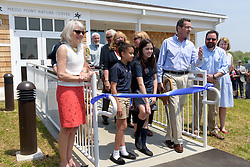 The Ribbon Cutting Ceremony for the New Meigs Point Nature Center at Hammonasset Beach State Park. A Connecticut State Project No: BI-T-601 | Northeast Collaborative Architects  Contractor: Secondino & Son