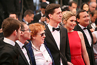 Christopher Landais, Frédéric Niolle, Moira Sullivan, Sam Ashby, Julie Gayet, Franck Finance Madureira attending the gala screening of Amour at the 65th Cannes Film Festival. Sunday 20th May 2012 in Cannes Film Festival, France.