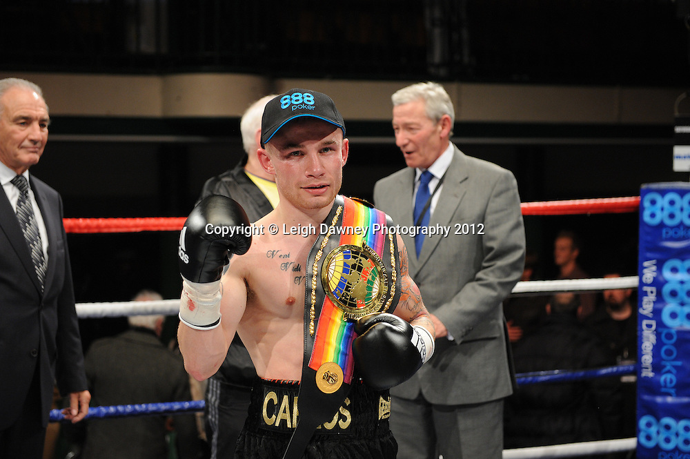 Carl Frampton defeats Kris Hughes for The Commonwealth  Super Bantamweight Title on the 28th January 2012 at York Hall, Bethnal Green, London. Matchroom Sport. © Leigh Dawney Photography 2012.