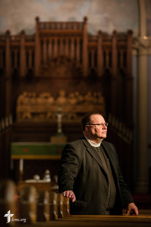 Portrait of the Rev. Kent Tibben at Trinity Lutheran Church on Wednesday, July 15, 2015, in Danville, Ill. LCMS Communications/Erik M. Lunsford