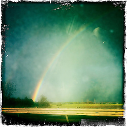 Rainbow..Hipstamatic images taken on an Apple iPhone..©Michael Schofield.