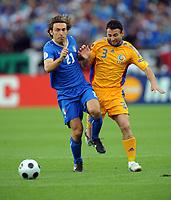 Andrea Pirlo<br /> Italy Euro 2008<br /> Rasvan Rats Romania<br /> Italy V Romania Group C 13/06/08<br /> UEFA European Championships 2008<br /> Photo Robin Parker Fotosports International