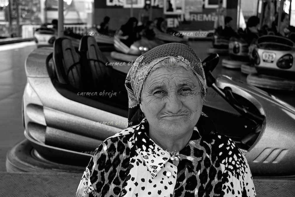 woman posing at annual trade fair