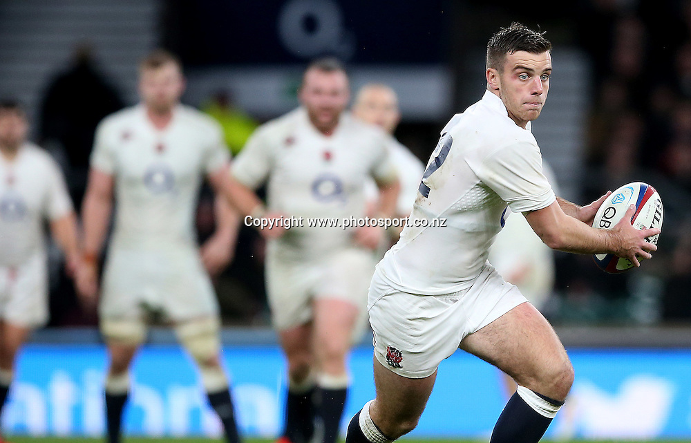 Autumn International, Twickenham, London 8/11/2014  <br /> England vs New Zealand All Blacks<br /> England's George Ford<br /> Mandatory Credit &copy;Photosport/INPHO/James Crombie