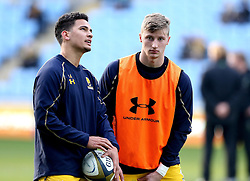 Alex Hearle of Worcester Warriors and Afeafe Haisila Lokotui of Worcester Warriors - Mandatory by-line: Robbie Stephenson/JMP - 13/11/2016 - RUGBY - Ricoh Arena - Coventry, England - Wasps v Worcester Warriors  - Anglo Welsh Cup