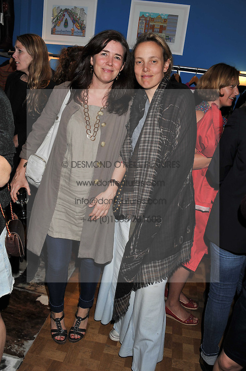 Left to right, CATHERINE HEANEY and BAY GARNETT at a private view of Nesta Fitzgerald's prints held at Selina Blow's store, Ellis Street, London on 27th September 2011.