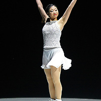 U.S. Champion Mirai Nagasu performs on the ice during the Stars on Ice Figure Skating tour stop at the Amway Center on Sunday, April 6, 2014 in Orlando, Florida. (AP Photo/Alex Menendez)
