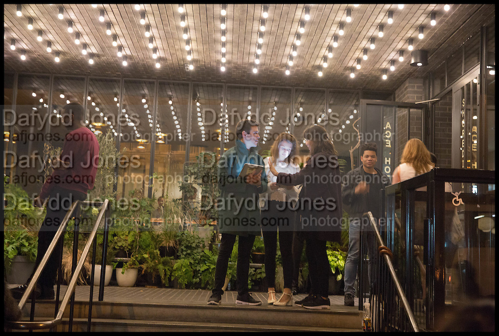 VIEW ENTRANCE  ACE HOTEL, Frieze party, ACE hotel Shoreditch. London. 18 October 2014